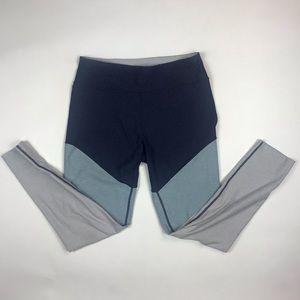 Outdoor Voices tri color block leggings